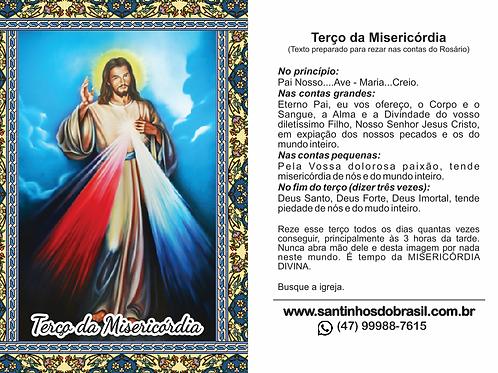 Terço da Misericórdia Santinho - 7x10 cm