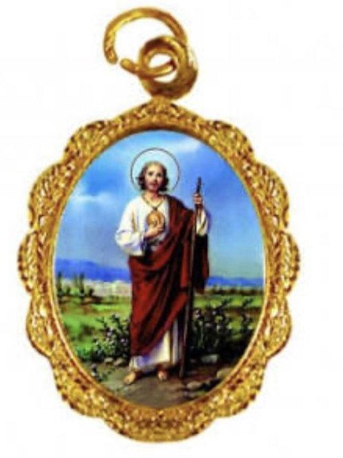 Medalhas de São Judas Tadeu 1x2 cm