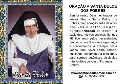 Santinho Santa Dulce dos Pobres