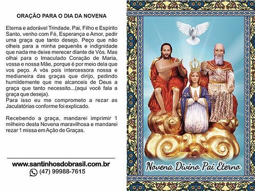 Oração Novena Divino Pai Eterno - 10x14 cm