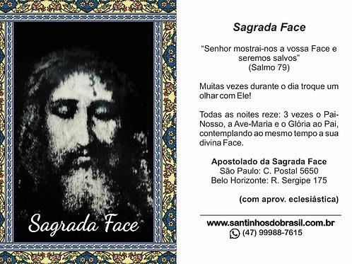 Oração Sagrada Face de Jesus - 7x10 cm