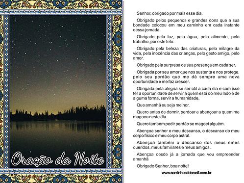 Oração da Noite, Oração do Dia, Oração Santinhos, Oração Reflexão.