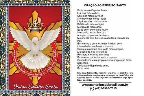 Oração ao Divino Espírito Santo - 7x10 cm