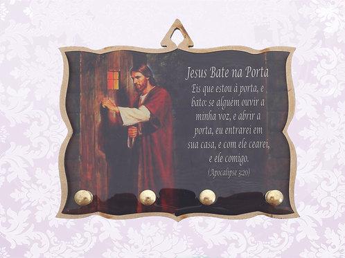 Porta Chaves Jesus Bate na Porta (04 pinos)