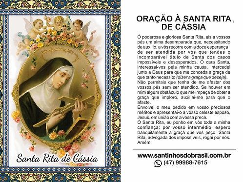 Santinhos Santa Rita de Cássia - 7x10 cm