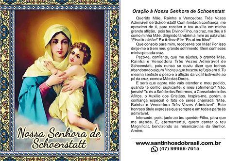 Oracao N. Sra. Schoenstatt - Santinho