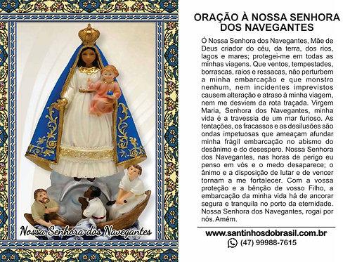Oração Nossa Senhora dos Navegantes - 7x10 cm