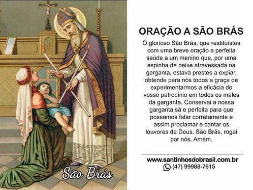 Oração São Brás - 7x10 cm