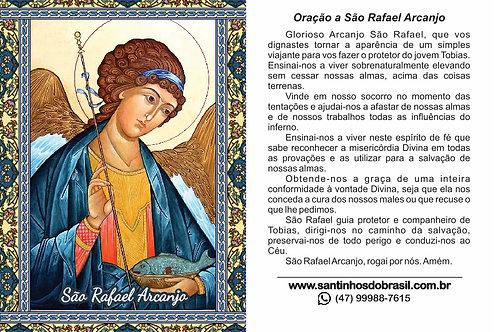 Oração São Rafael Arcanjo - Santinhos 7x10 cm