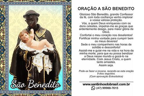 Oração São Benedito - 7x10 cm