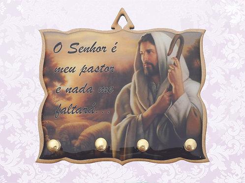 Porta Chaves O Senhor é Meu Pastor (04 pinos)