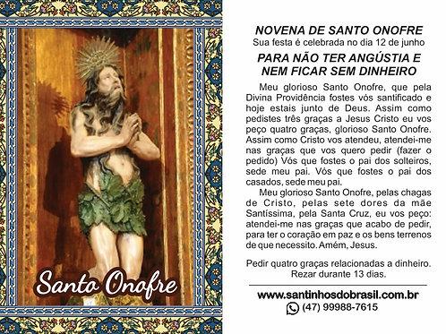 Oração Santo Onofre - 7x10 cm