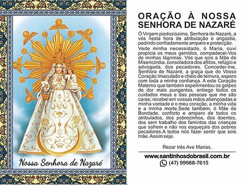 Oração Nossa Senhora de Nazaré - 7x10 cm