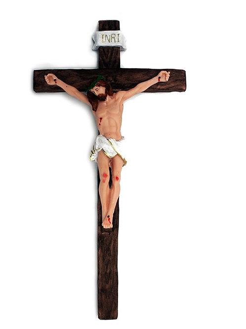 Crucifixo de Parede (resina) 38 cm