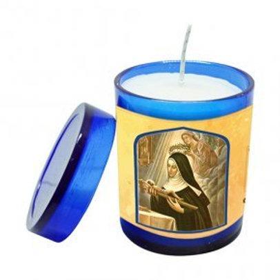 Vela Perfumada Santa Rita de Cássia 7 cm