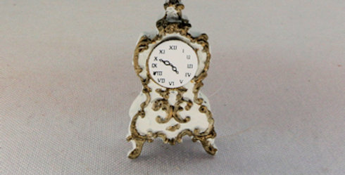 Ornate Clock - White