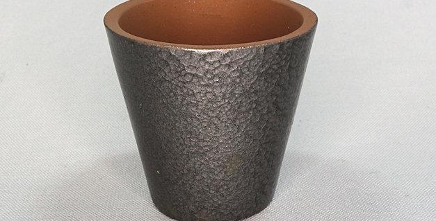 Hammered Silver Planter - Medium