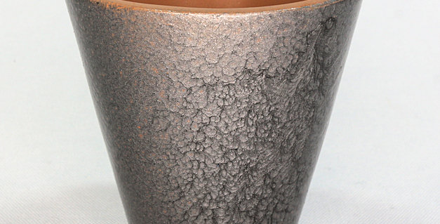 Hammered Silver Planter - Large