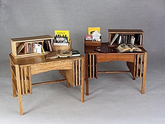 Oak & Mahogany Letter Holder & Correspondence Desktop-Inch Scale.JPG