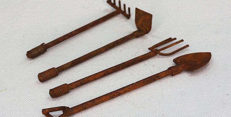 Garden Tool Set - Rust