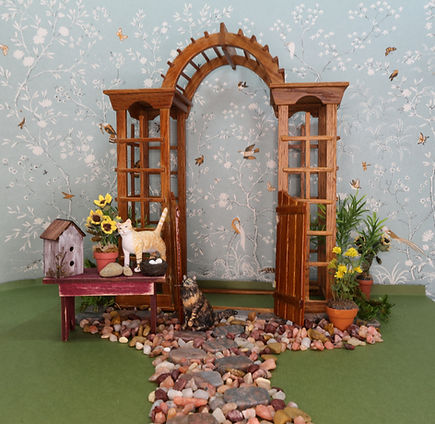 Miniature Arch and Cat