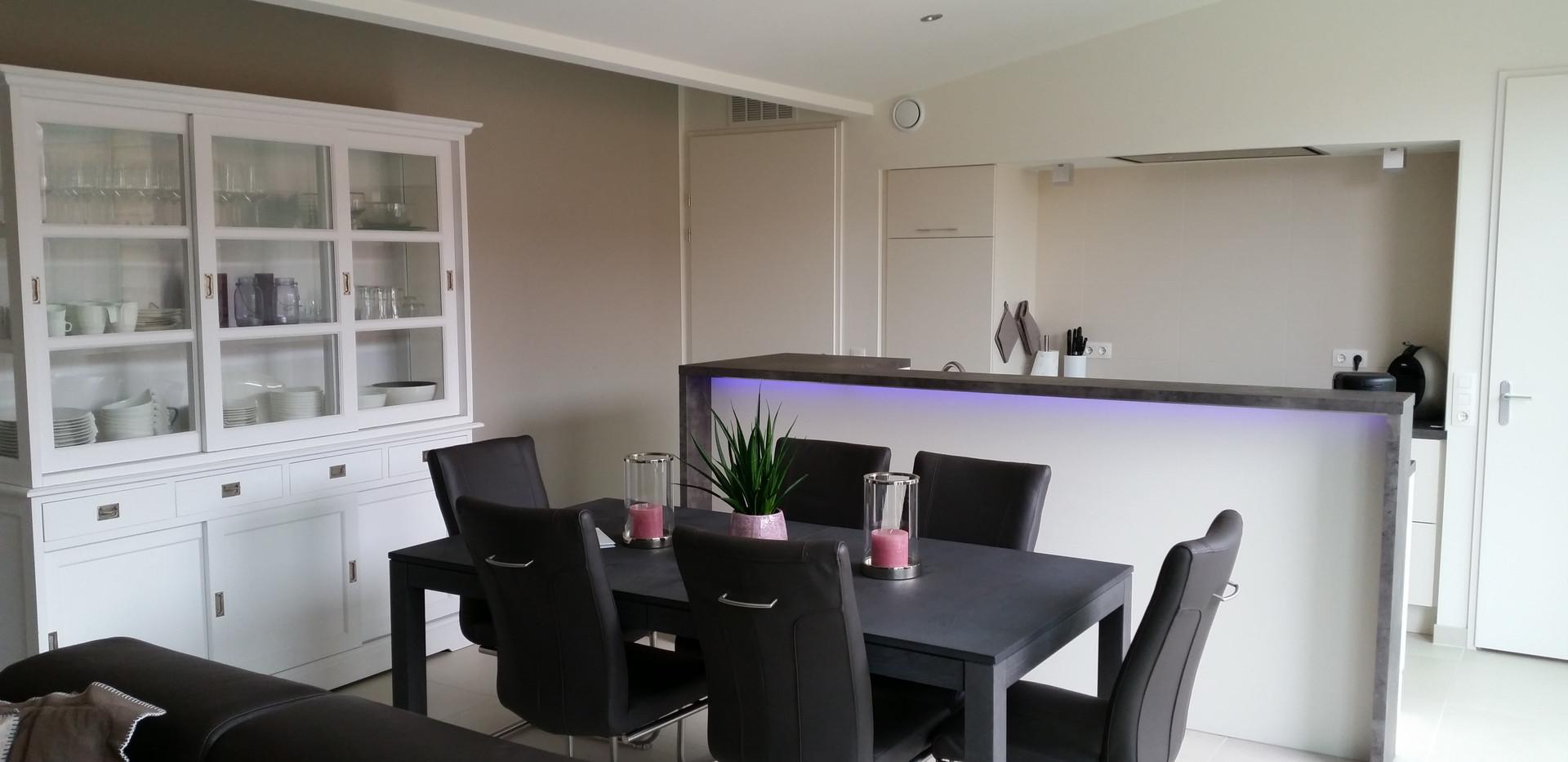 Wohnzimmer und Küche Cadzand Ferienwohnung