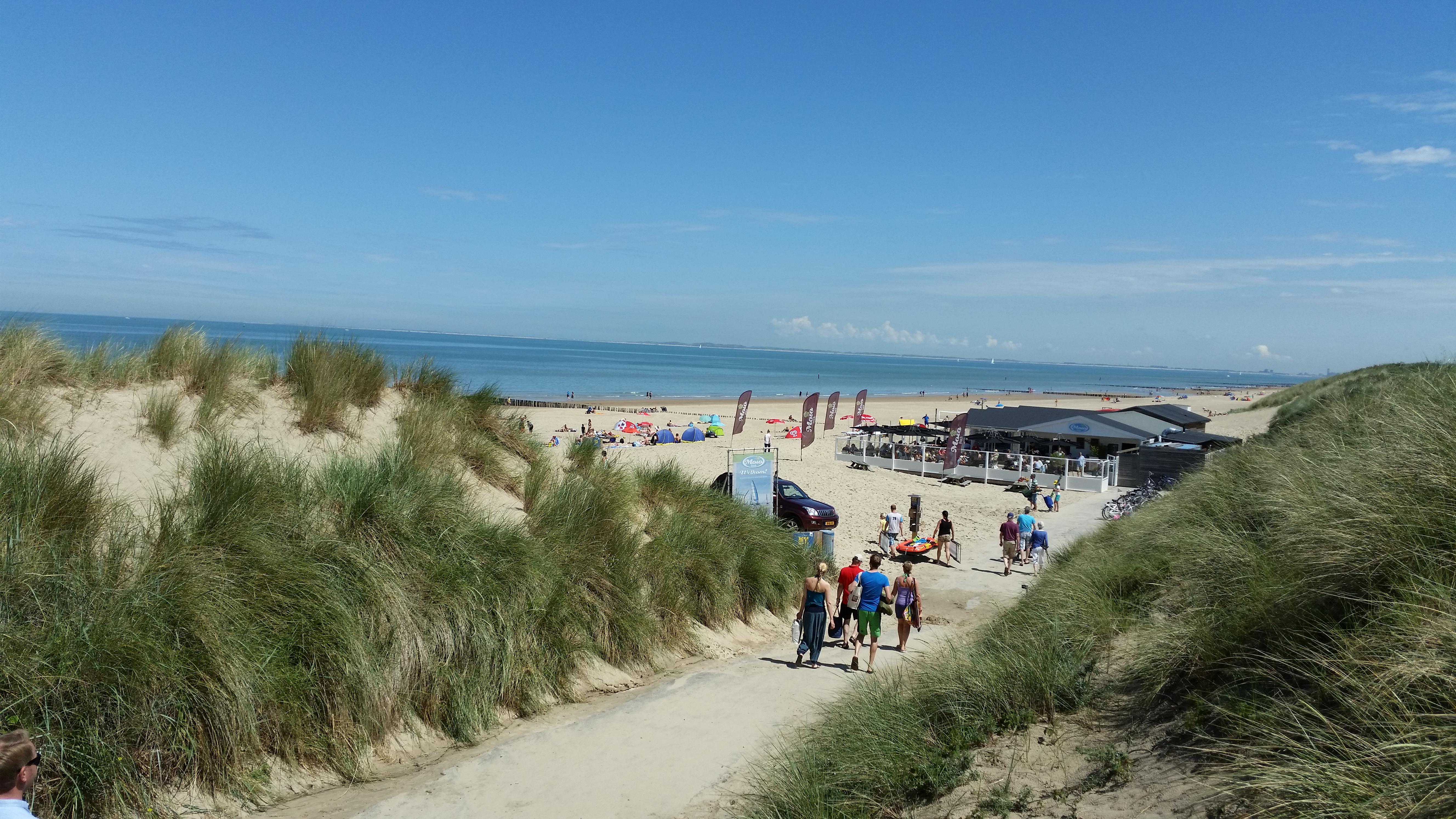 Strand Cadzand 100m vom Bonnies