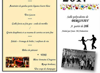 Réveillon de la Saint Sylvestre 2018 Bergouey (40)                                            Salle