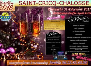 Réveillon de la Saint Sylvestre 2018        St-Cricq-Chalosse (40)                          Salle po