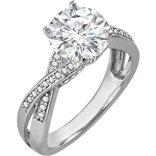14k W.G 0.20 ct Diamond Engagement Ring