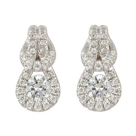 14kt. W.G. Knot Diamod Earrings