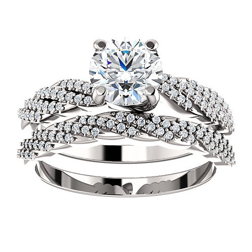 14k W.G 1.20 cts Diamond Engagement Ring