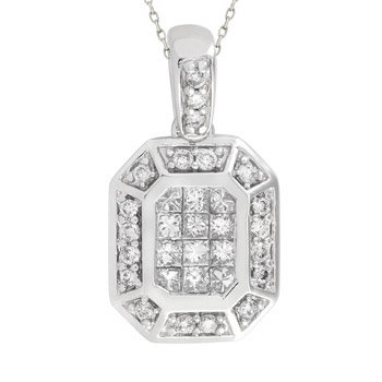 14kt. W.G. 0.43ct. Diamond Pendant