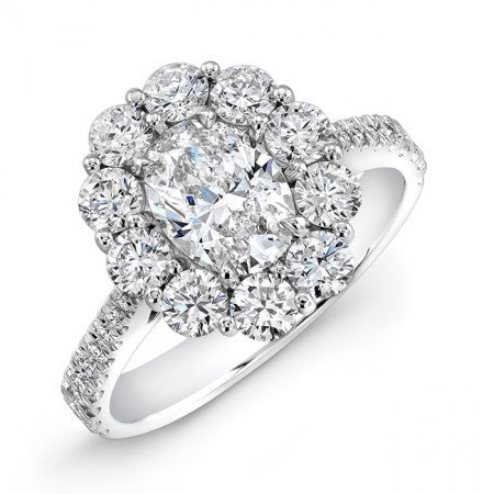 18kt. White Gold Cluster Ring
