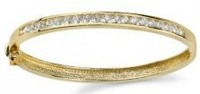 14kt. Y.G. 1.00 ct Diamond Bangle Bracelet