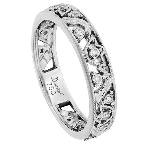 18 Kt. W.G. 0.24 ct Diamond Wedding Band