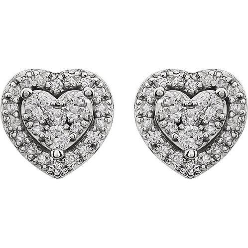 14kt. W.G. Diamond Stud Earrings