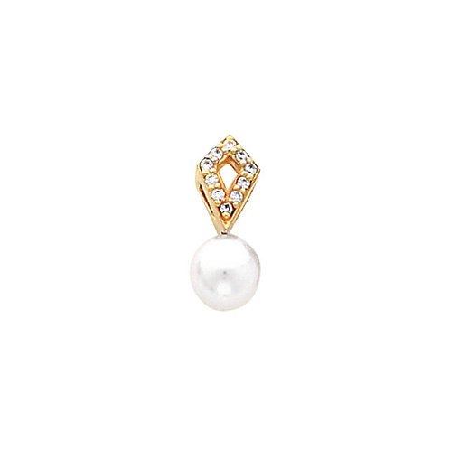 14kt. Y.G. 7.00 mm Pearl Pendant