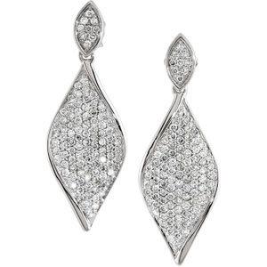 14kt. W.G. Diamond Earrings