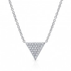 18kt Triangle Pendant Necklace