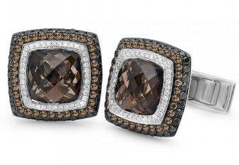 18kt. Brown Diamonds 7.15 ct Cufflink