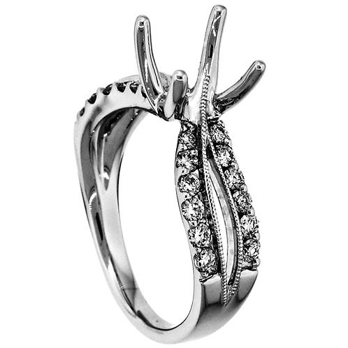 18 Kt. W.G. Semi-Mounting Ring/Non-Hailo