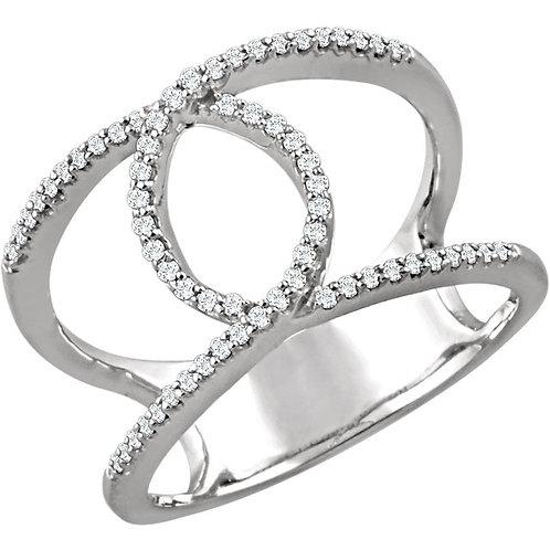 14kt W.G 0.15 ct Fashion Diamond Ring