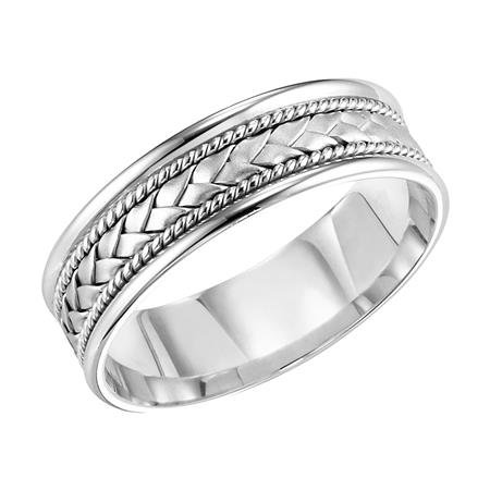 14kt. W.G Comfort Fit Wedding Band