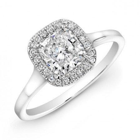 18kt. White Gold Halo Ring