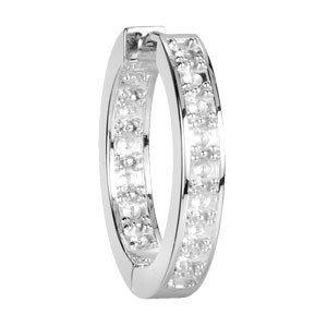 14kt. W.G. Diamond Hoop Earrings