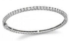 14kt. W.G. 2.50 ct Diamond Bangle Bracelet