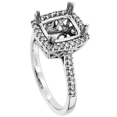 18 Kt. W.G. Semi-Mounting Ring/Hailo