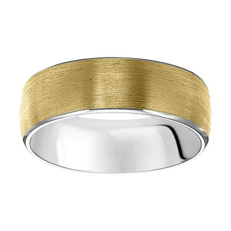 Two-tone Comfort Fit Wedding Band