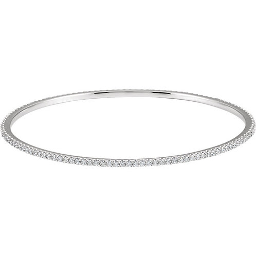 14kt W.G 2.00 ct Diamond Stackable Bangle Bracelet